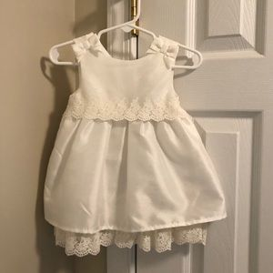 Tahari white baby dress